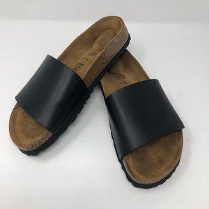 Birkenstock, Betula, 38 (8), Black Reggae Sandals